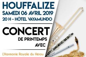 Harmonie Royale du Hérou - Concert de printemps le 06/04/2019